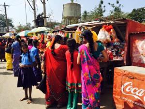 Saris full of colour