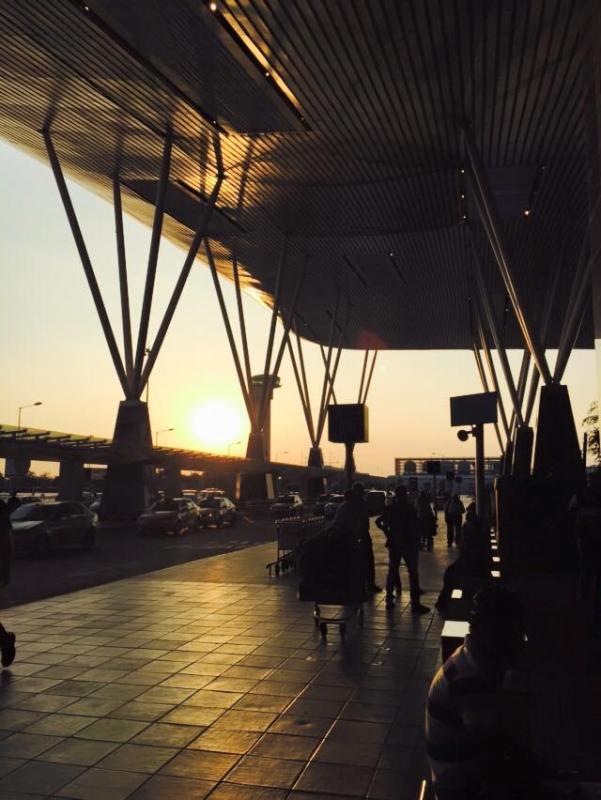 Sunset Bangalore Airport